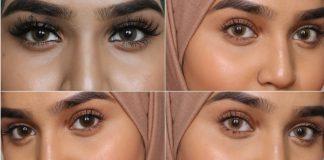 circle lenses makeup for brown eyes