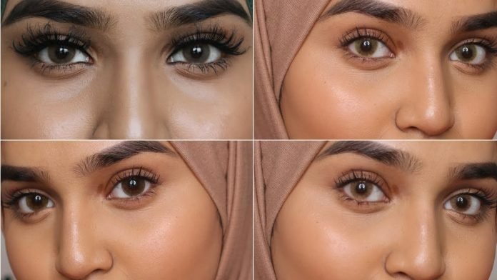 circle lenses makeup for brown eyes