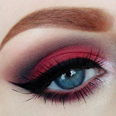 red eyeshadow looks